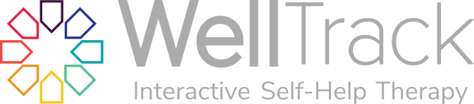 WellTrack Logo--a multicolored circle with the words WellTrack